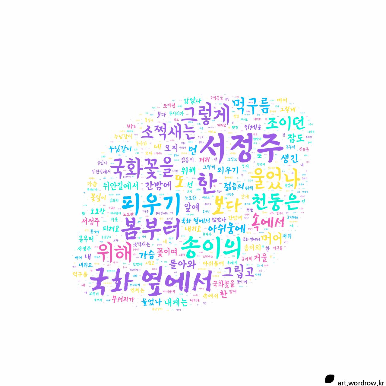 워드 아트: 국화 옆에서 [서정주]-4